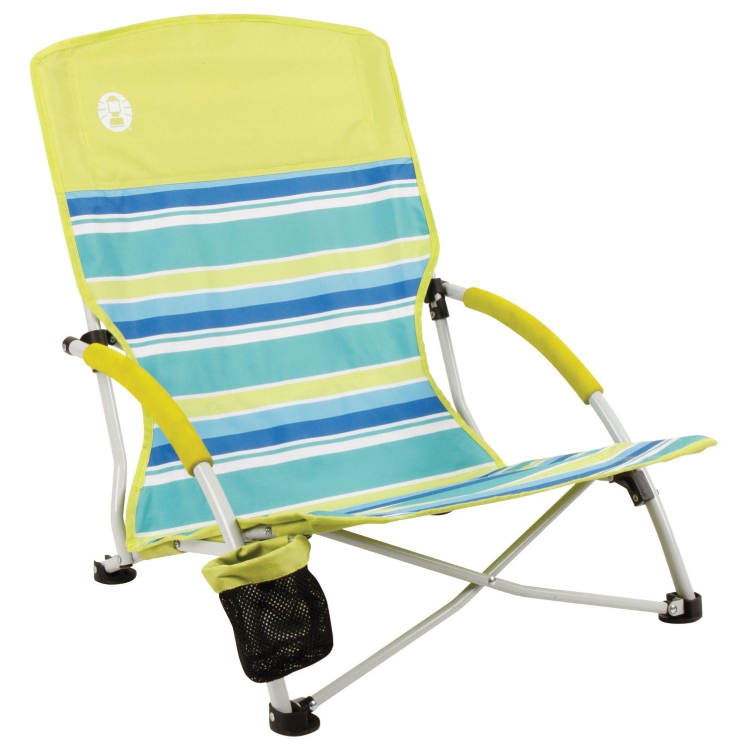 Folding Lawn Chairs Walmart Coleman Beach Deluxe Low Sling Chair Citrus