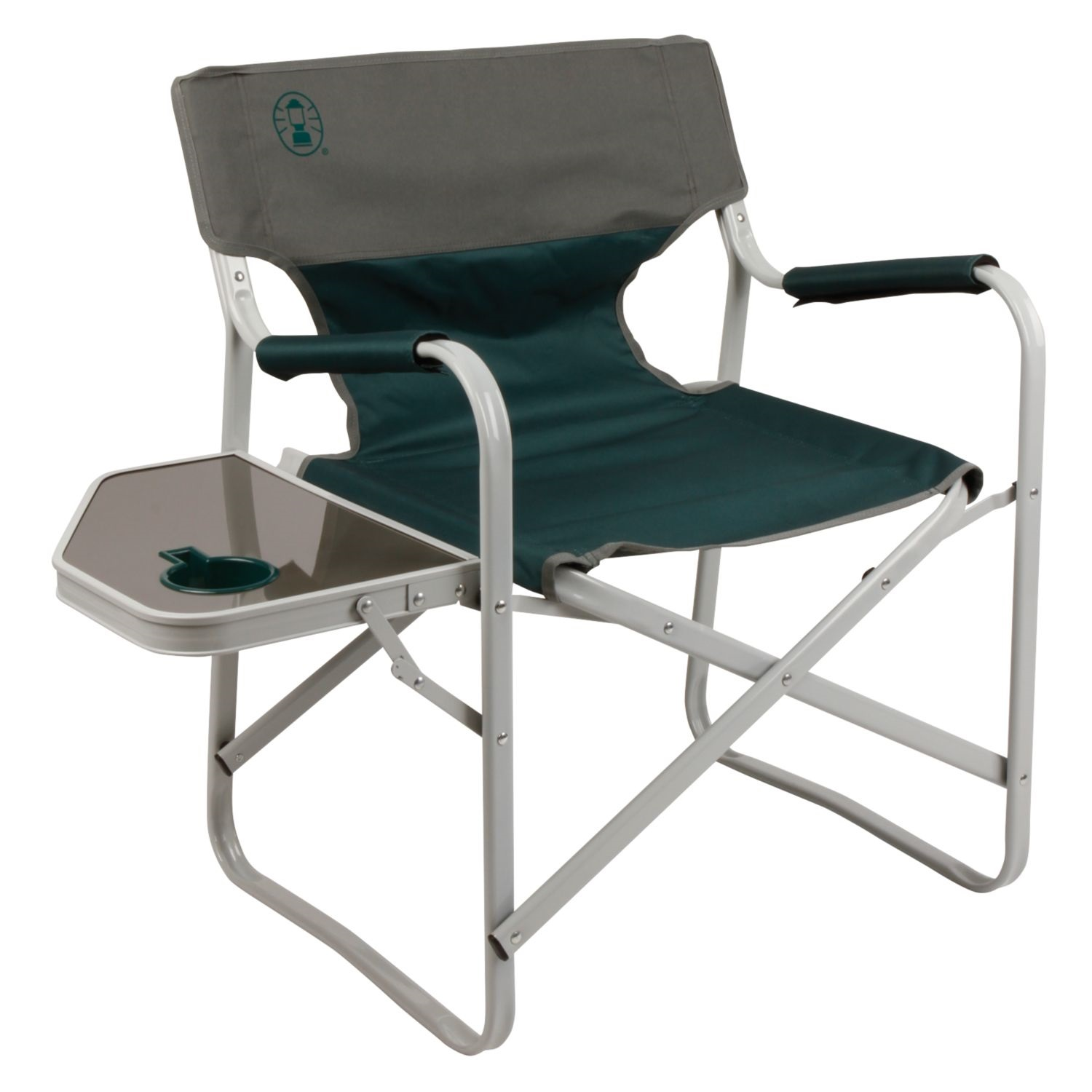 Coleman Outpost Elite Deck Chair With Side Table Les Green