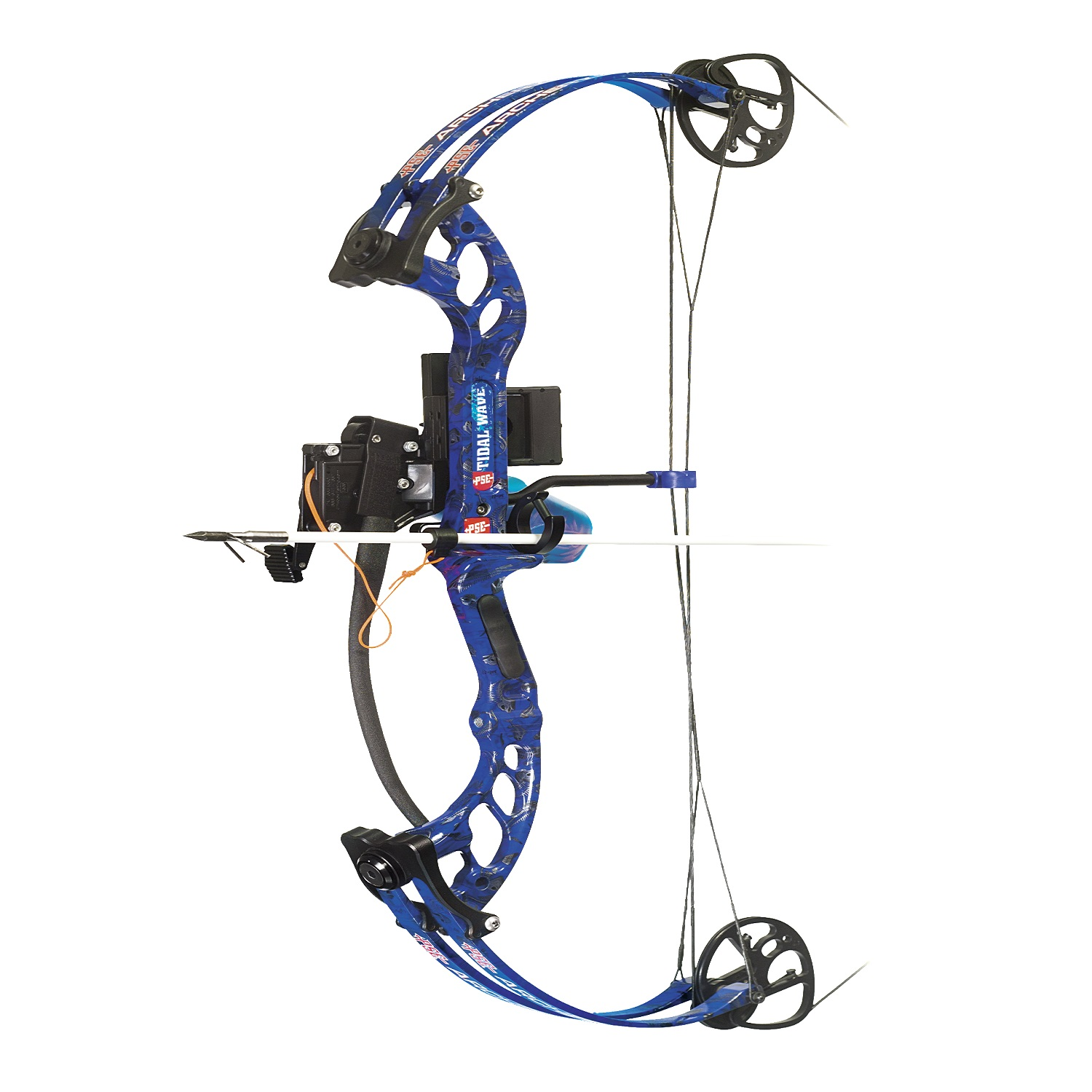 Pse tidal wave bowfishing bow package lh 40 lbs for Bow fishing bows