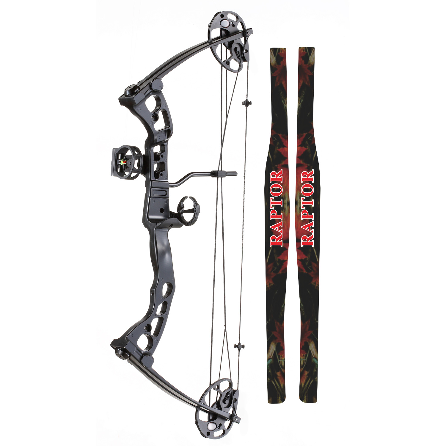 Sa sports raptor youth compound bow camo for Compound bow fishing
