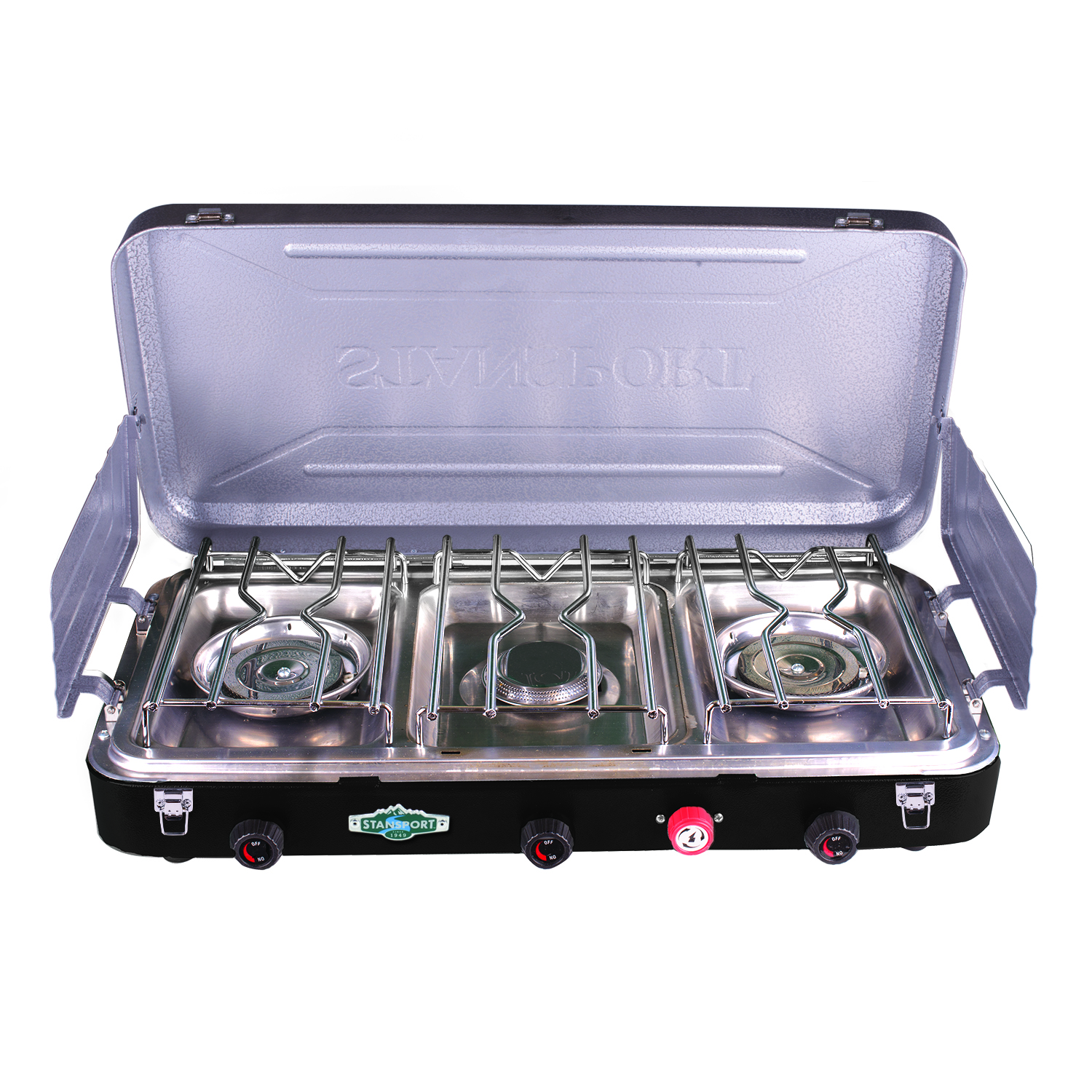 3 Burner Camp Stoves: Stansport 3 Burner Propane Stove