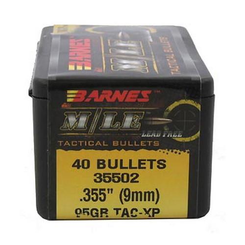 "Barnes Bullets 35502 9mm Lug .355""95gr MLE TACXP FB/40"