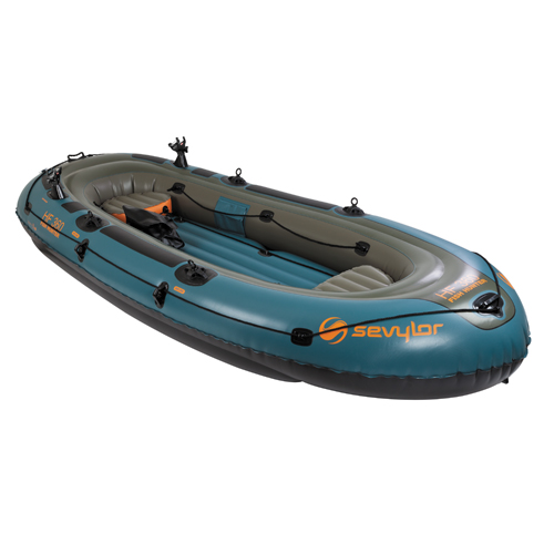 Sevylor inflatable boat fish hunter 6p for Inflatable fishing boats