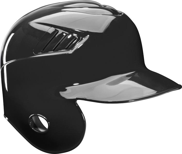 Single flap batting helmets