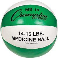 Champion Leather 14-15 lbs Medicine Ball
