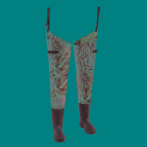Allen Cases Dillon Camo 2-Ply Hip Wader Sz 8,Max-5