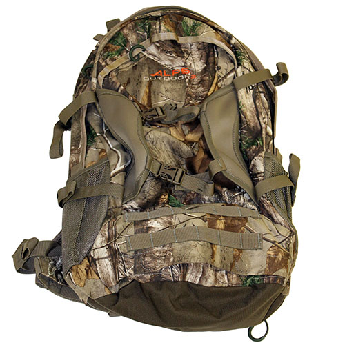 Alps mountaineering outdoor z trail blazer 2500cu in ap camo for Ap fishing backpack