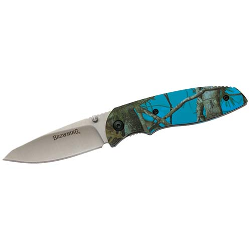 Browning KNIFE, EDC FOLDER BLUE CAMO BX Folding Knife
