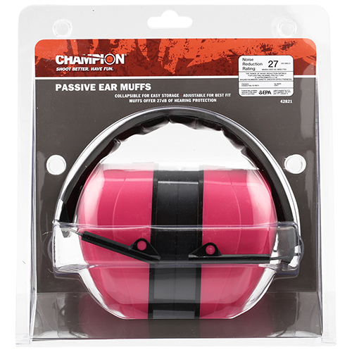 Champion Traps and Targets Ear Muffs Pink Passive Muff - 27Nrr