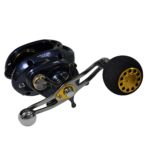 Daiwa Lexa 300 Type HD Baitcasting Reel, 6.3:1 Gear Ratio, 22 lb Max Drag, RH Lexa HD BC 6 CRBB + 1, 6.3 : 1