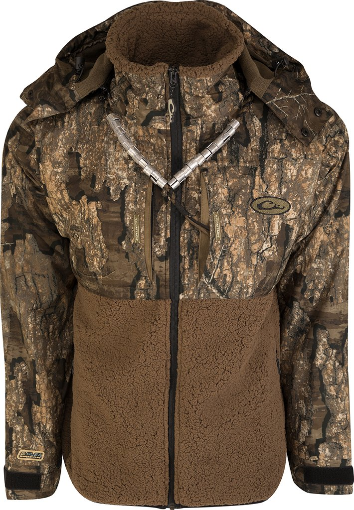 Drake MST Guardian Flex Sherpa Fleece Eqwader Full Zip with Hood