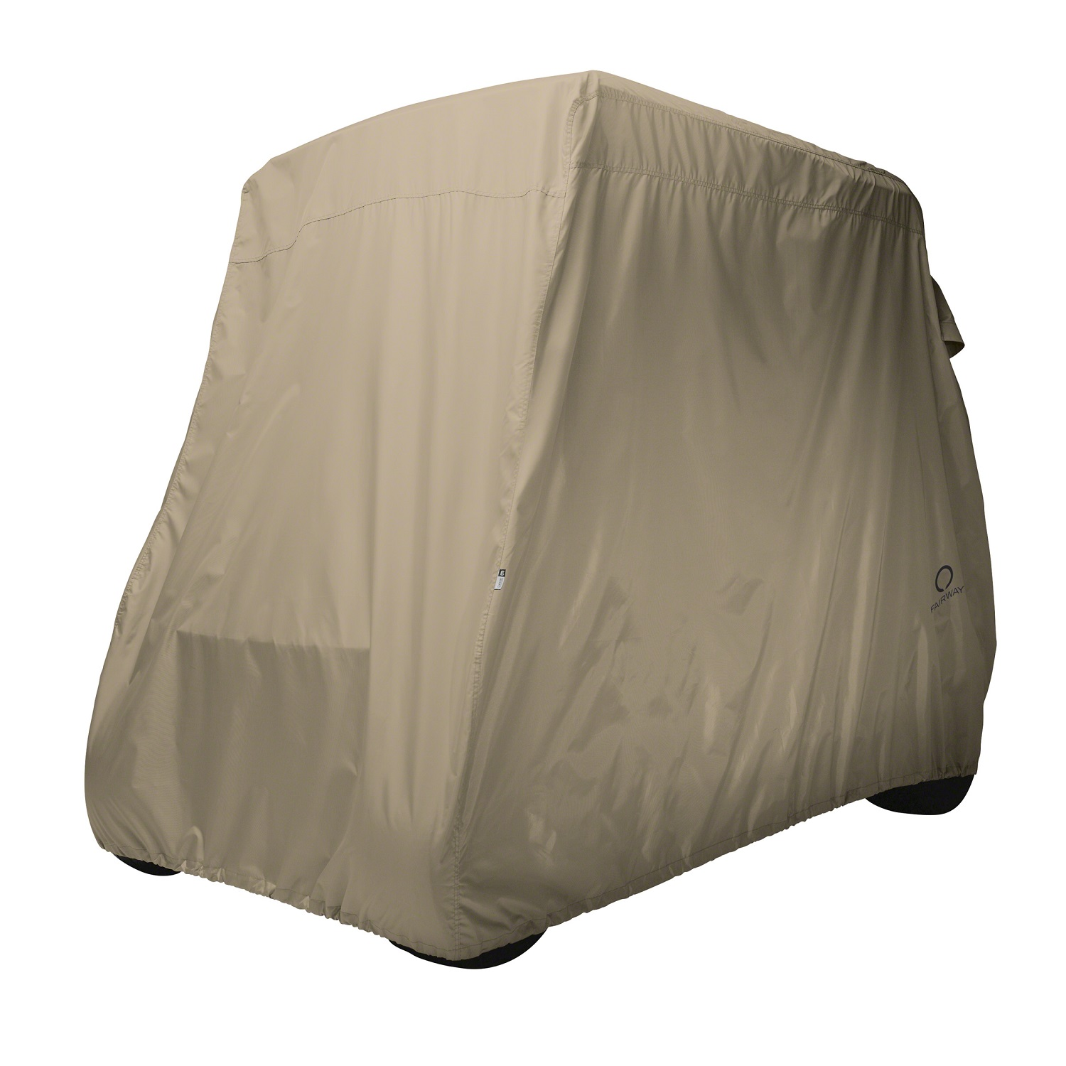 Classic Accessories Golf Cart Cover Long Roof Light Khaki