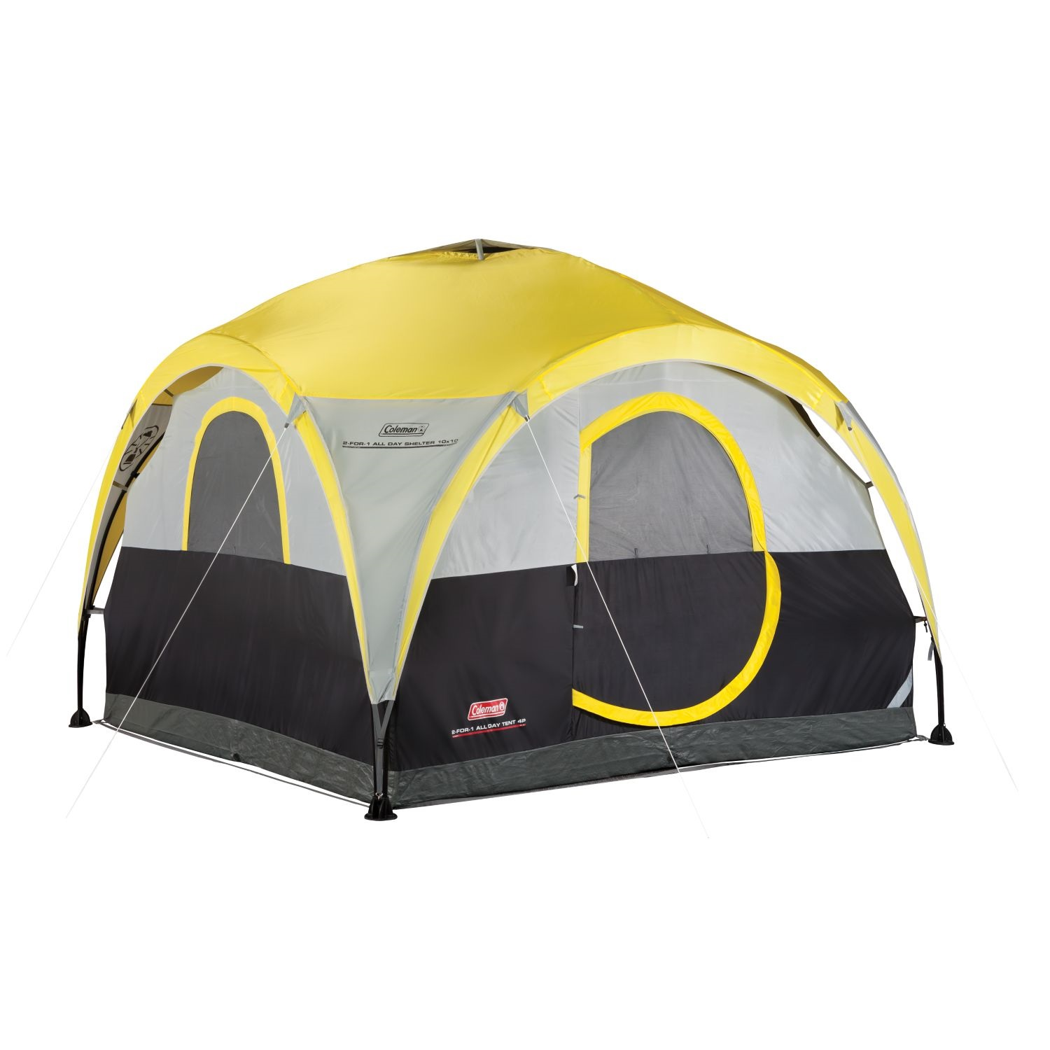 Porch Light Youth Shelter: Coleman All Day 4 Person 2-For-1 Dome Tent And Shelter