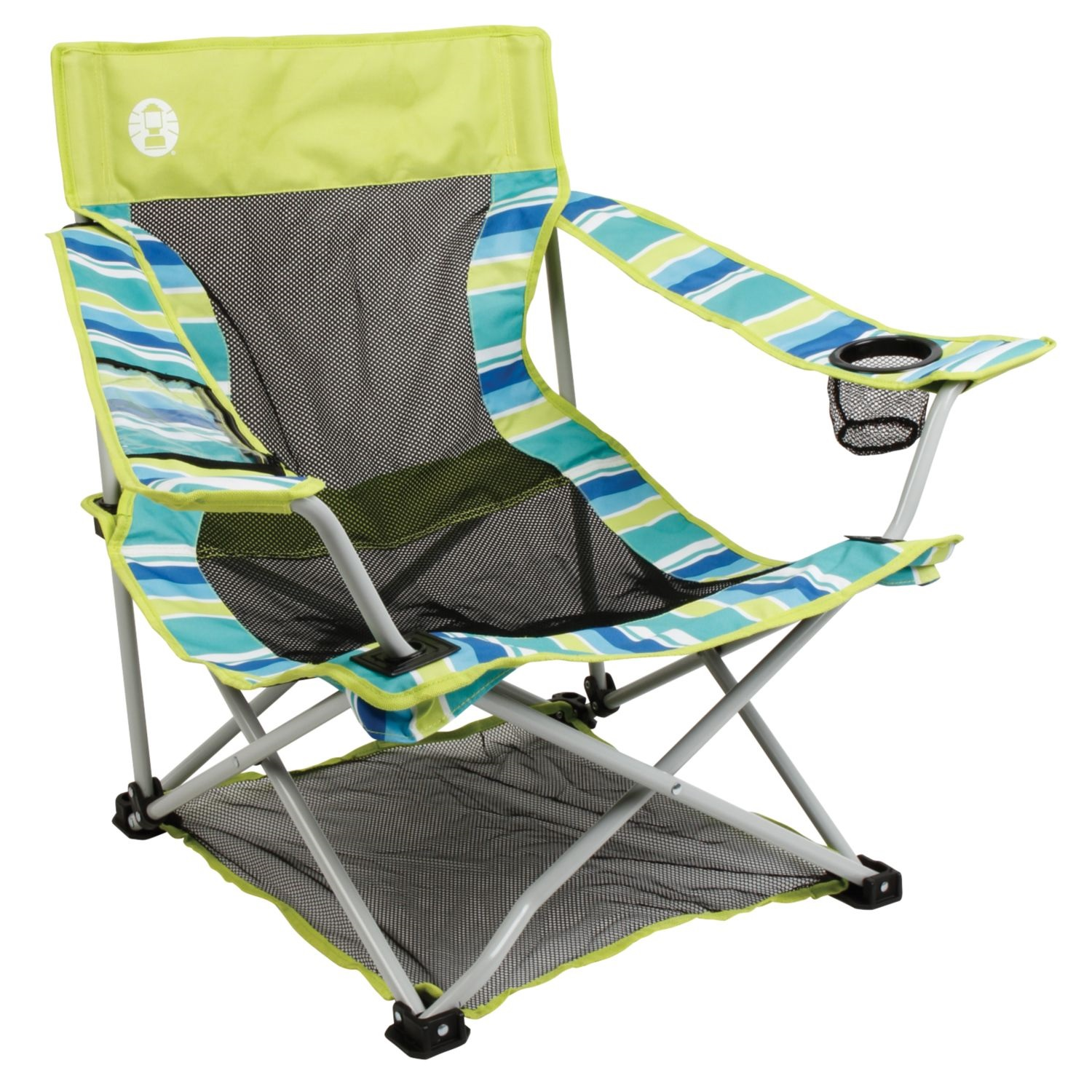 Coleman Low Quad Beach Deluxe Native Breeze Chair Citrus