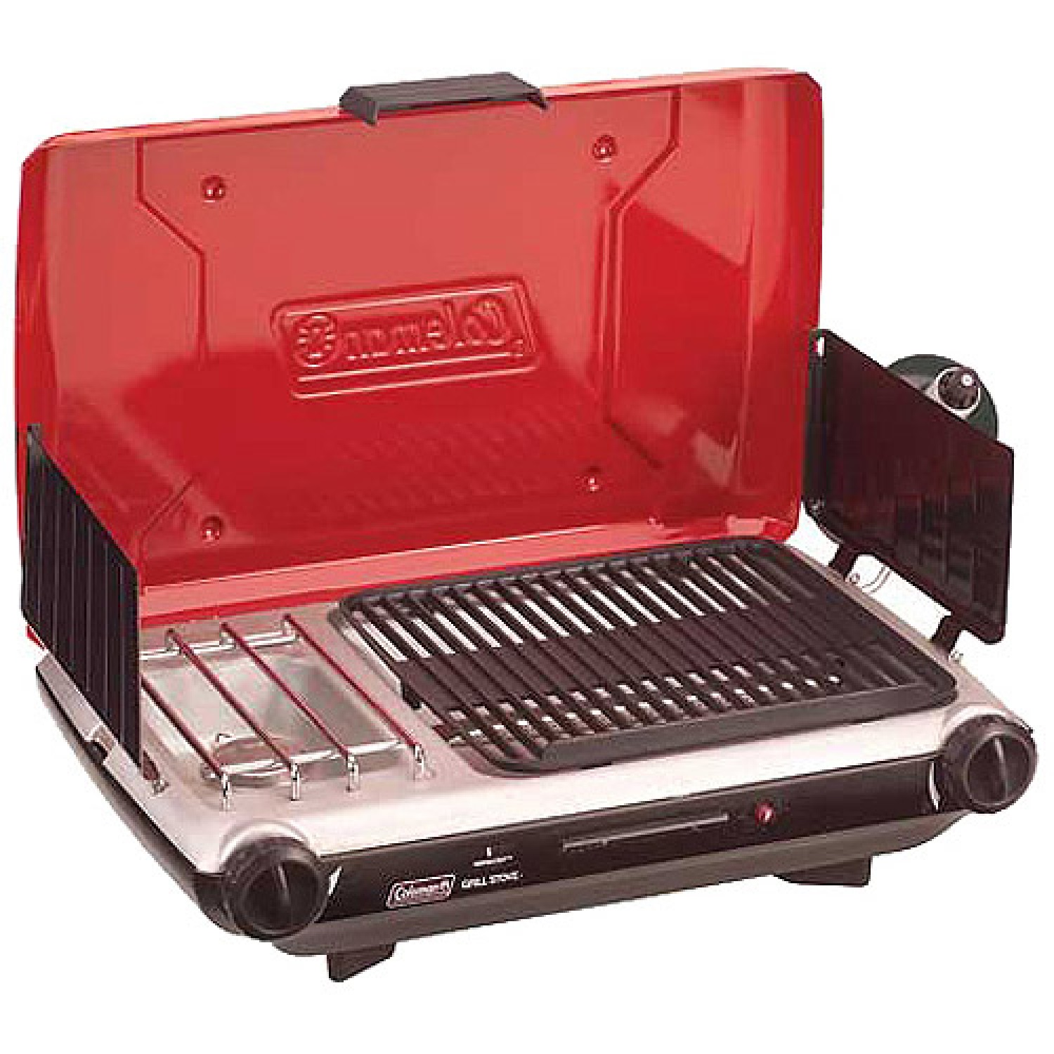 Coleman 2 Burner Grill Stove Combo Red/Black 2000003733