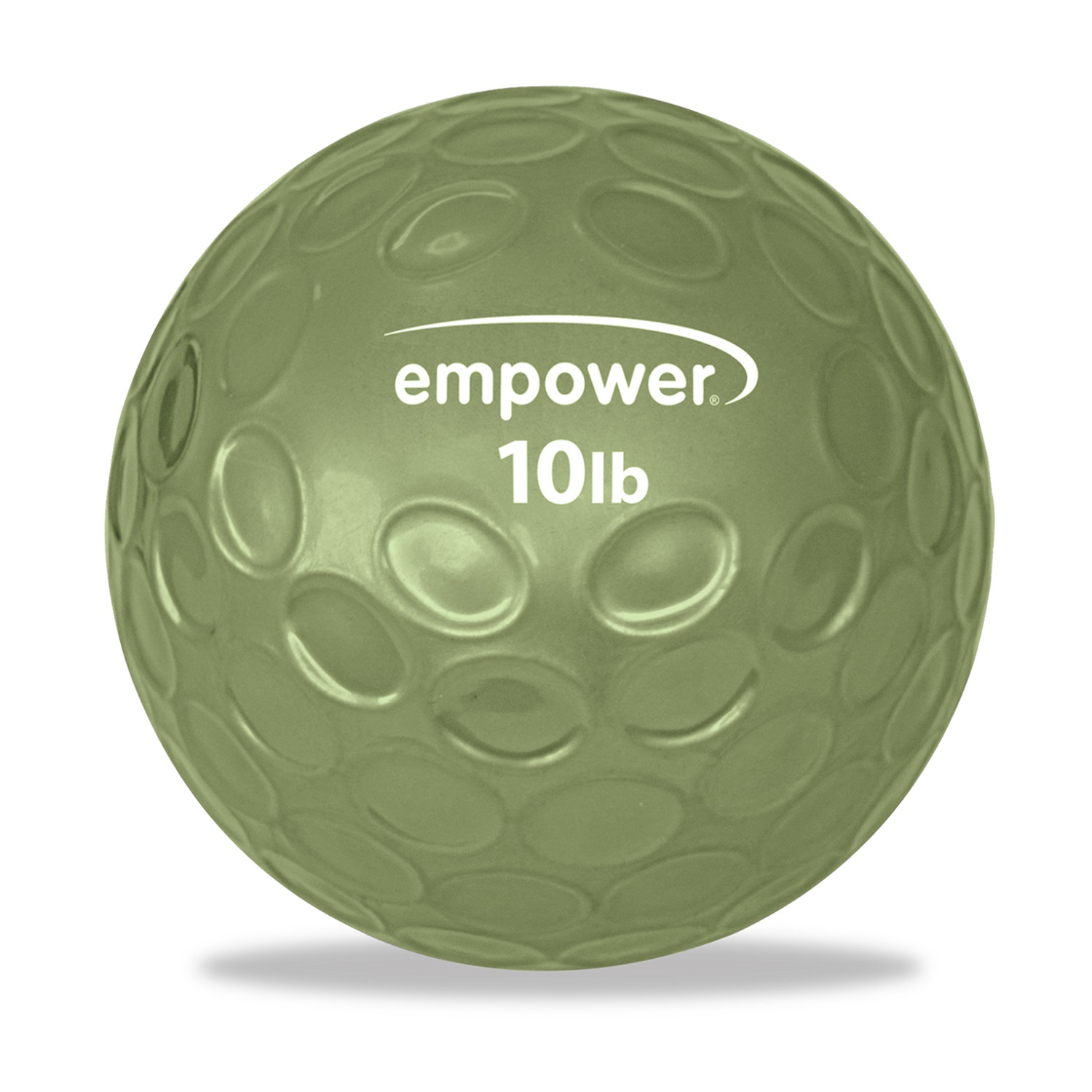 Empower Fitness 10lb Comfort Grip Medicine Ball with DVD