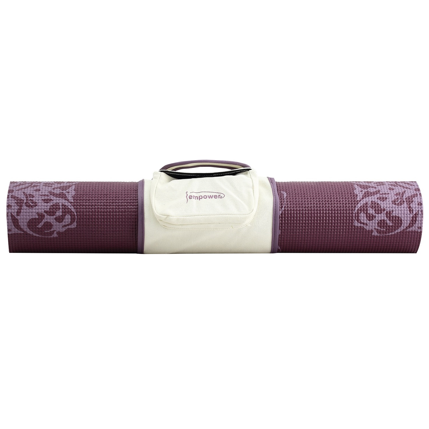 Empower Fitness 5mm Yoga Mat with Clutch - Cranberry Print