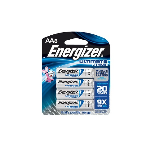 L91BP-8 Energizer Ulitmate Lithium AA Battery 8pk