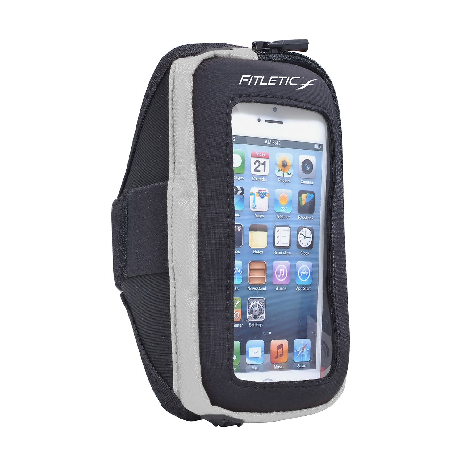 Fitletic Smart Phone Arm Band with Window Black/Gray-S/M