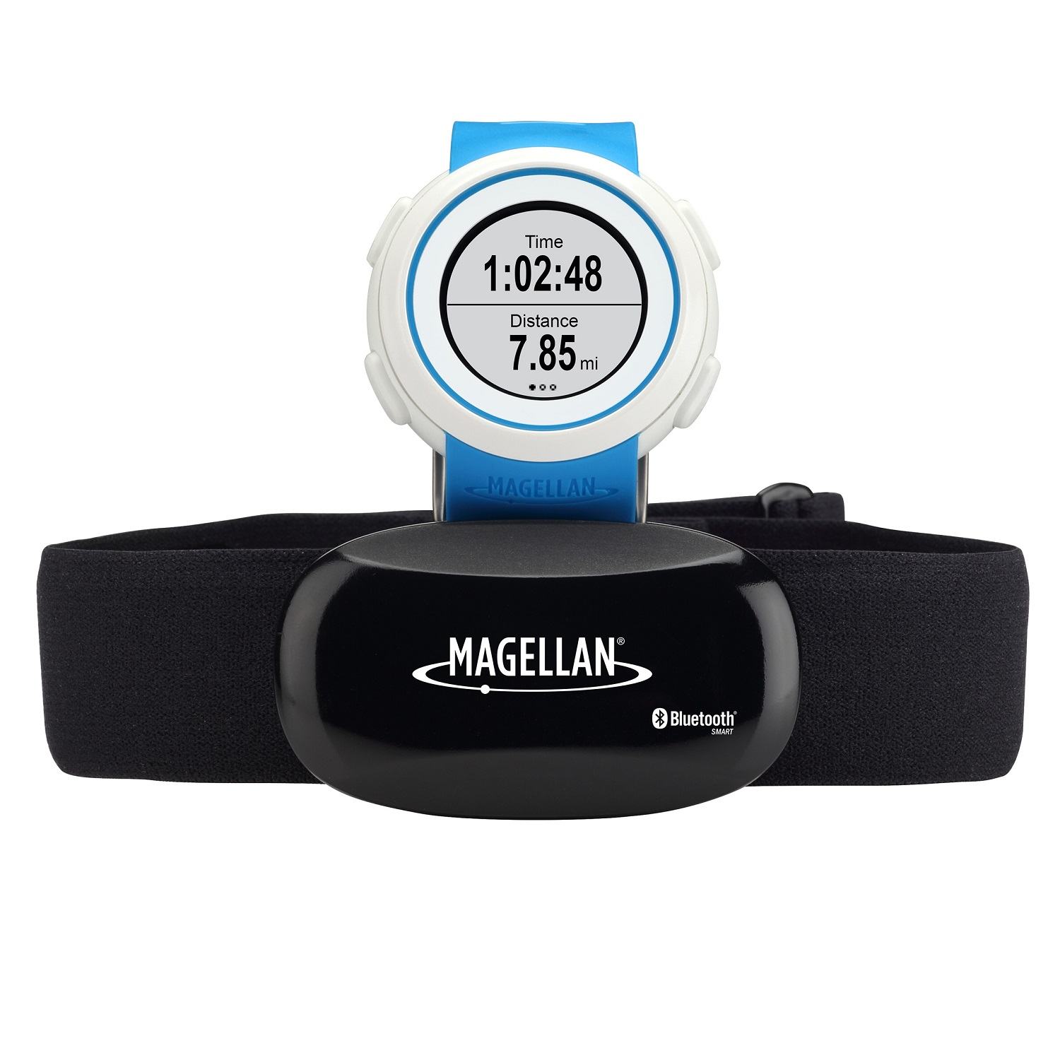 Magellan echo fit sports watch with heart rate monitor blue for Magellan fishing shirts wholesale