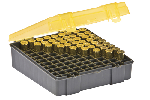 Plano 100 Ct Handgun  Ammo Case Hinged Cover 44-45 Cal