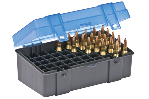 Plano 50 Cnt Med Rifle Ammo Box Hinged Cover 243 275 Cal