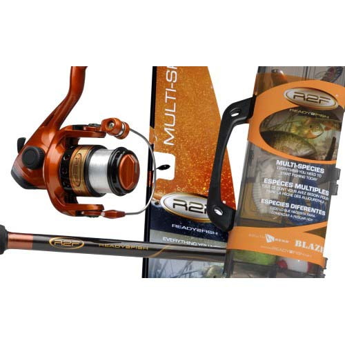 Ready 2 Fish 2 Piece Spinning Combo w/45 Piece TcklBx - 4'6
