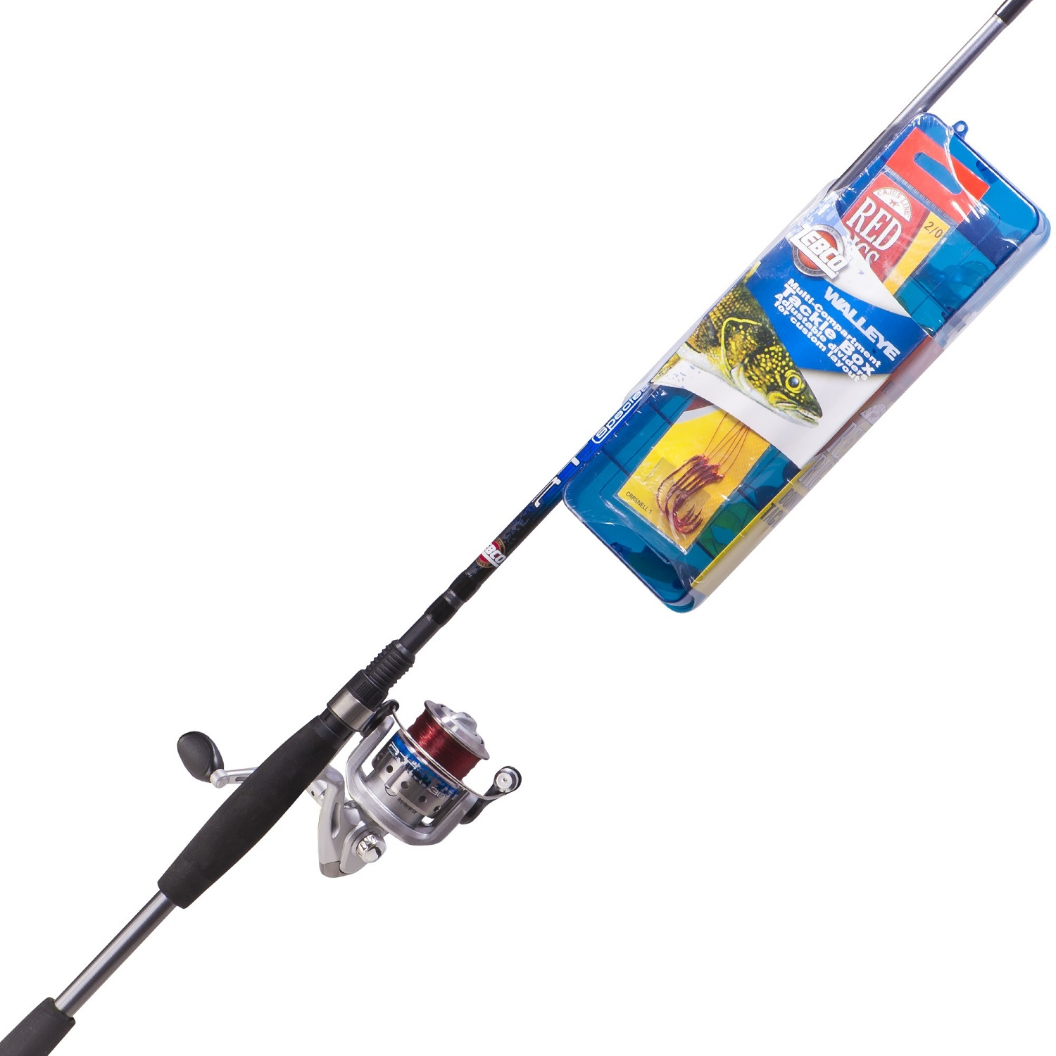 Zebco ready tackle walleye ml spin combo for Kmart fishing pole
