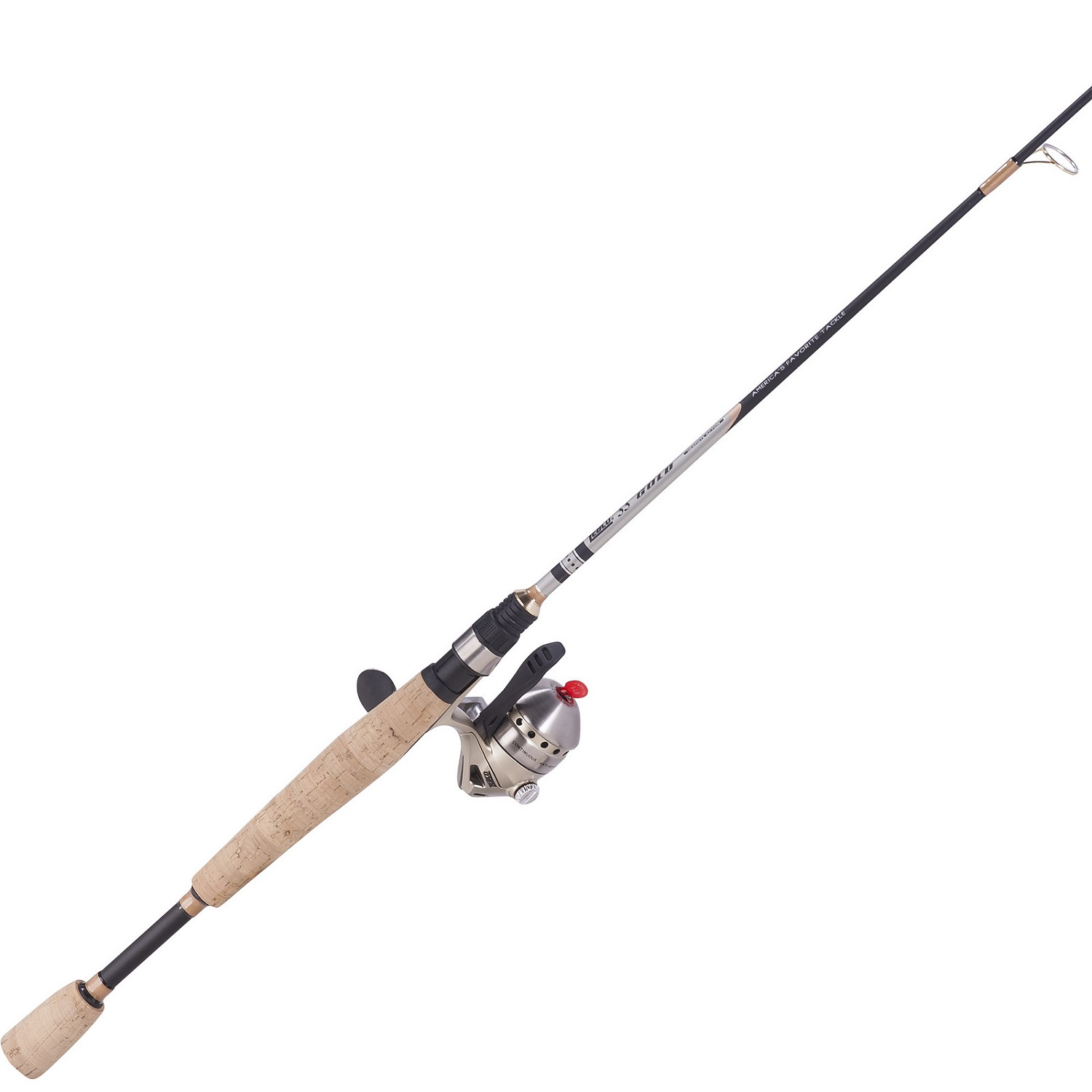 Zebco 33 micro triggerspin gold 5ft 2 pc ul spincast combo for Micro fishing pole