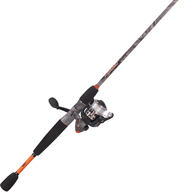 Zebco camo 20 size 6ft 2 pc medium spin combo for Camo fishing pole