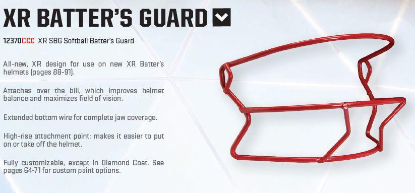 Schutt XR Baseball Batters Guard Facemask