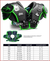 All-Star SP4000 Youth Catalyst Shoulder Pads