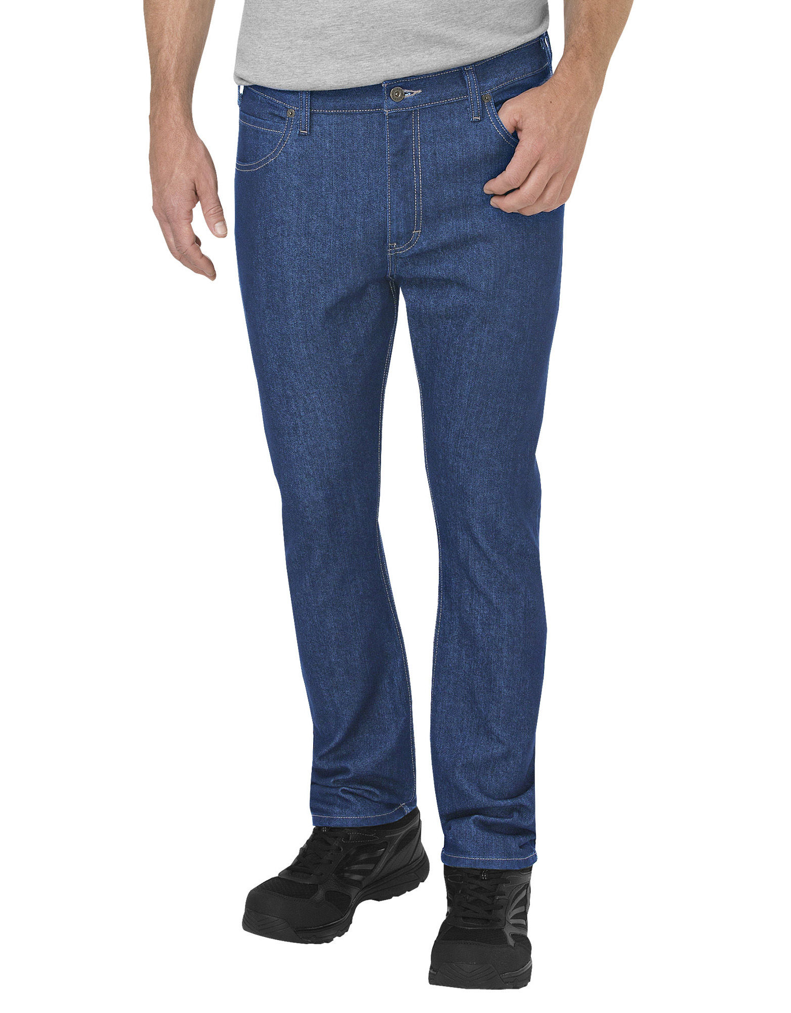 Dickies Mens Regular Fit 5-Pocket Jean With Performance