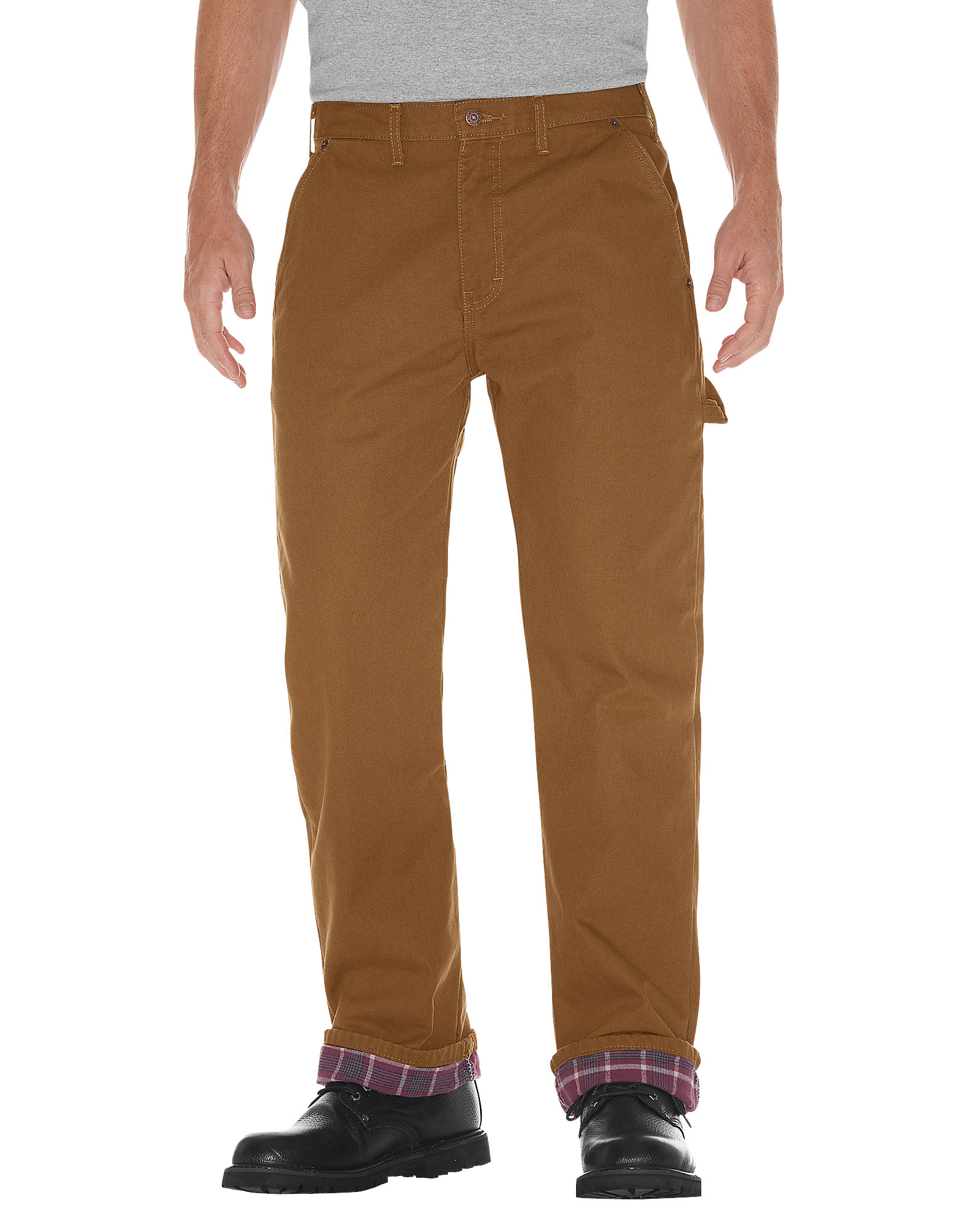 Dickies Mens Relaxed Fit Flannel Lined Duck Carpenter Jean