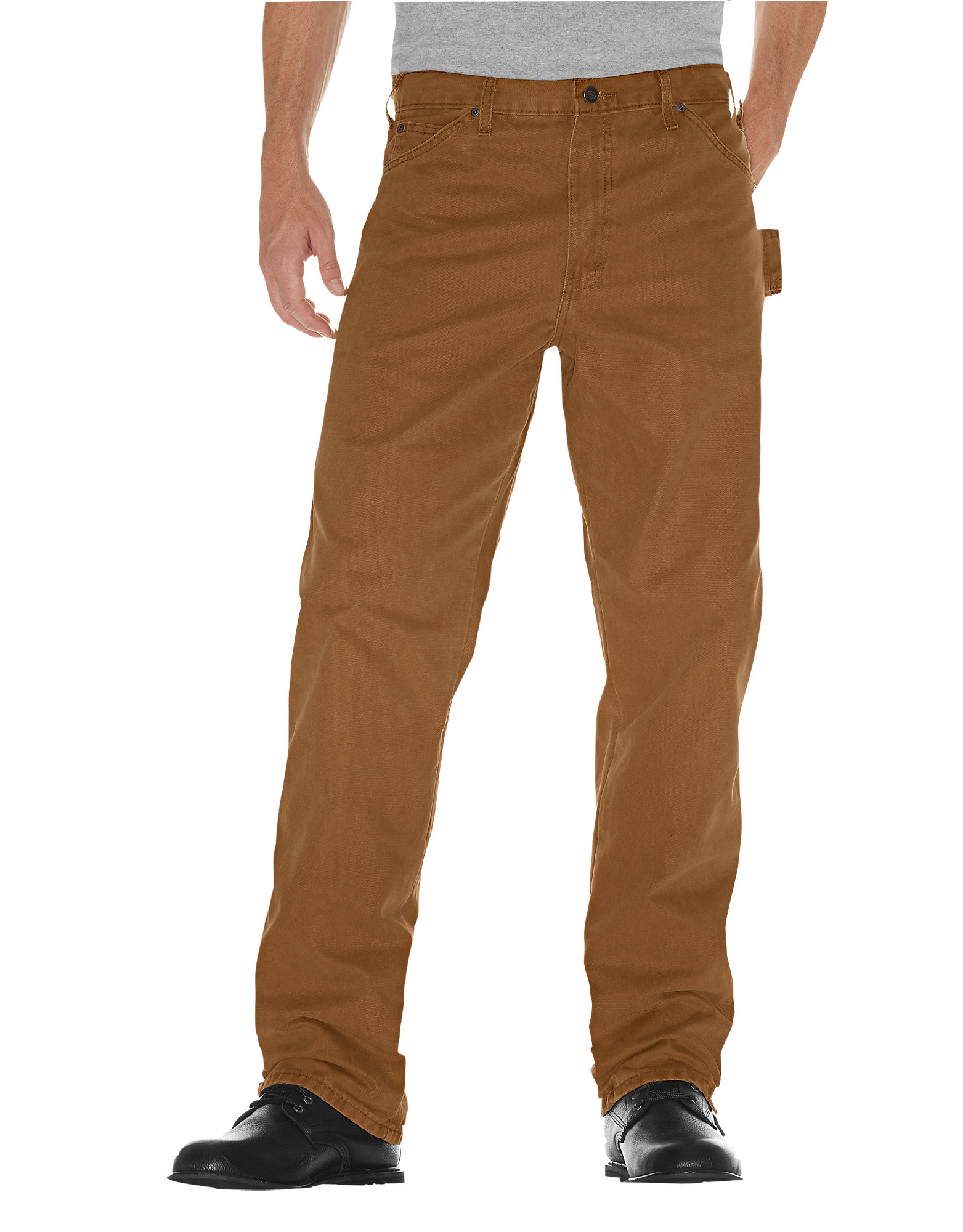 Dickies Mens Relaxed Fit Sanded Duck Carpenter Jean