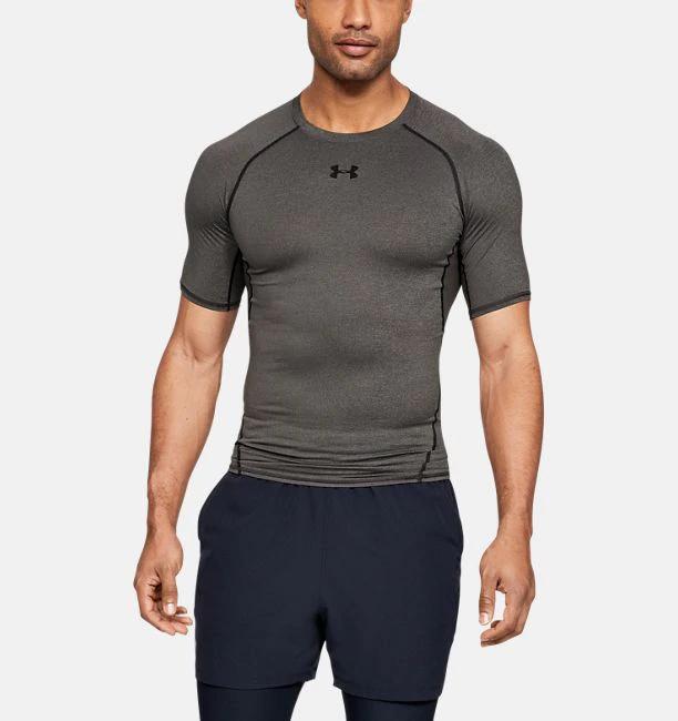 Under Armour UA Men/'s HeatGear Armour Compression Short Sleeve Top New Black