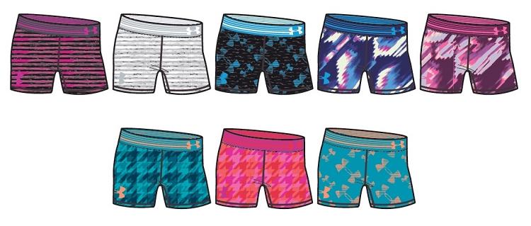under armour shorts for girls. under armour girls heatgear printed 5\u0027\u0027 solid shorts for