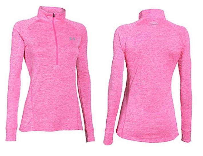 Under armour womens tech twist half zip long sleeve shirt for Under armour half sleeve shirt