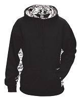 Badger Digital Camo Hoody - Adult Extra Small - Black/White Digital Camo