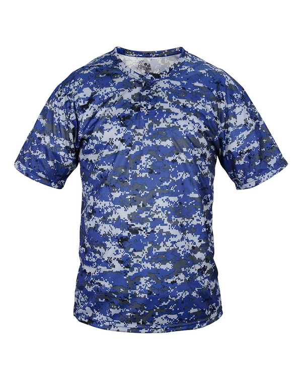 Badger Digital Camo Youth 2 Button Placket Shirt