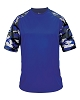 Badger Camo Sport Adult Tee Shirt - Royal Blue/Digital Camo