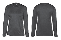 Badger Ladies Pro Heather Long Sleeve Tee