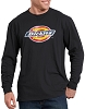 Dickies Mens Long Sleeve Regular Fit Icon Graphic T-Shirt