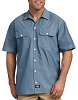 Dickies Mens Relaxed Fit Short Sleeve Chambray Shirt