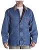 Dickies Mens Denim Zip Front Chore Coat