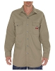 Dickies Mens Long Sleeve Twill Snap Front Shirt