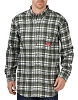 Dickies Mens Flame Resistant Long Sleeve Plaid Shirt