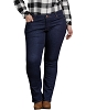 Dickies Womens Plus Perfect Shape Bootcut Stretch Denim Jeans