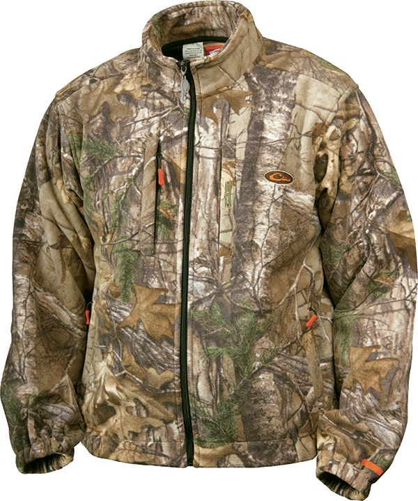 Drake Non-Typical Silencer Fleece Coat - Realtree Xtra - Size Large