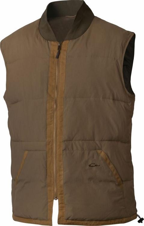 Drake heritage down vest for Drake fishing shirts